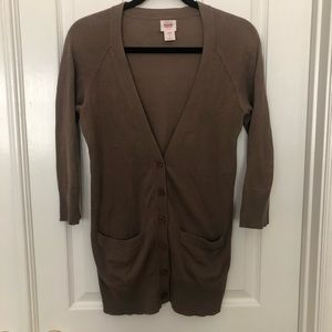 Mossimo Cotton cardigan taupe brown small s